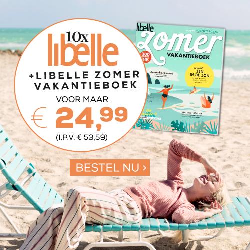 Aanbieding Libelle 10 x Libelle van € 53.59 voor maar € 24.99. Dat is meer als 53 korting en u krijgt het gratis Libelle Zomer Vakantieboek cadeau Aanbieding Libelle: 10 x Libelle van € 52,89 voor € 29,95 + Libelle Zomerboek cadeau