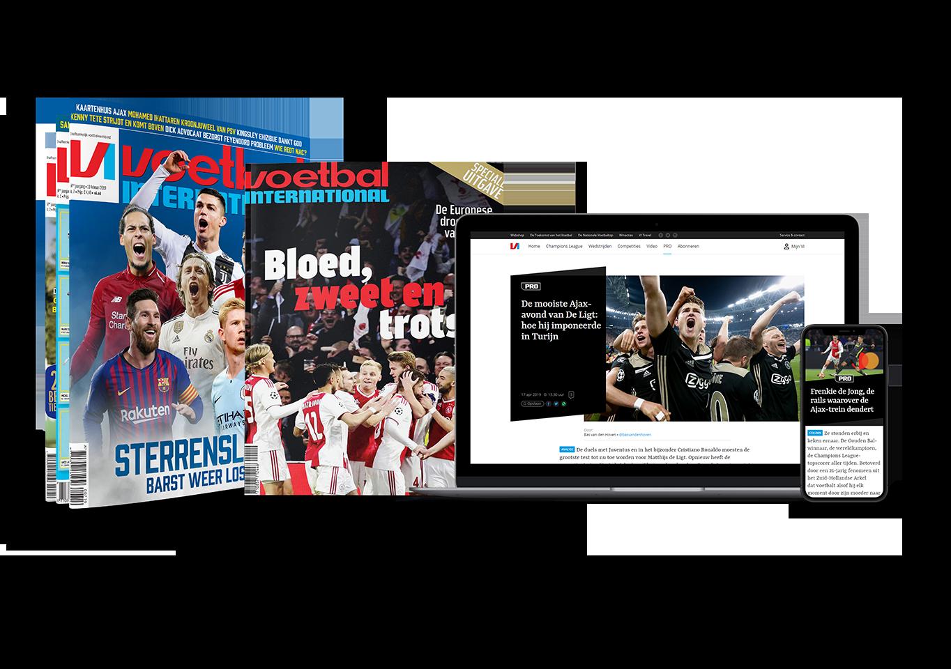 Bestel een aflopend proefabonnemt Voetbal International met korting nu 8 weken VI voor maar 24 Euro Proefabonnement Voetbal International, 8 keer VI voor maar 24 Euro (stopt automatisch, 29% korting)