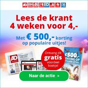 Proefabonnementen dagbladen 4 weken 4 euro en gratis kortingsboekje voorjaarsuitjes 300x300 Proefabonnement Dagbladen 4 weken € 4.  en gratis kortingsboekje uitjes