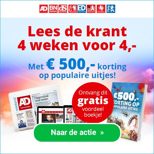 Proefabonnementen dagbladen 4 weken 4 euro en gratis kortingsboekje voorjaarsuitjes Proefabonnement Dagbladen 4 weken € 4.  en gratis kortingsboekje uitjes