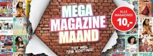 Mega Megazine Maand hoge korting op tijdschrift abonnementen 300x110 Hoge korting tijdschrift abonnementen, tot 64% korting tijdens Mega Magazine Maand