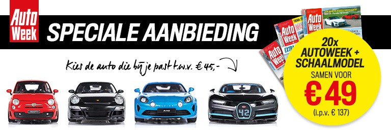 aanbieding AutoWeek abonnement met korting en gratis schaalmodel auto Aanbiedingen AutoWeek abonnement, 64% korting, van € 137.  voor € 49.  met gratis schaalmodel