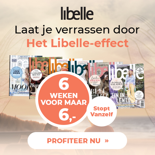 aanbieding Libelle proefabonnement 6 weken voor E 6. stopt automatisch Aanbieding Libelle proefabonnement met hoge korting, 6 nummers voor € 10.  (Stopt Automatisch)