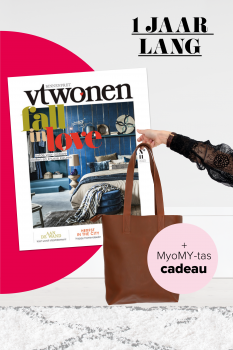 aanbieding VT Wonen abonnement met gratis design tas 233x350 Aanbieding VT Wonen jaar abonnnement met gratis MyoMY tas