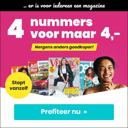 aanbiedingen tijdschriften proefabonnementen 4 weken E 4. stopt automatisch 1 Aanbieding tijdschriften proefabonnementen, 4 weken voor € 4.  (stopt automatisch)
