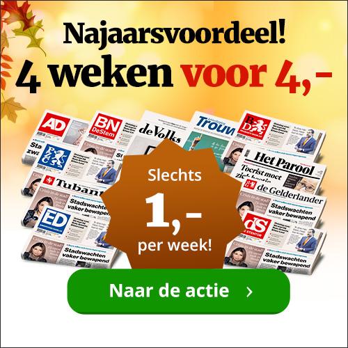 dagbladen 4 weken voor 4 euro Proefabonnement Dagbladen 4 weken € 4.